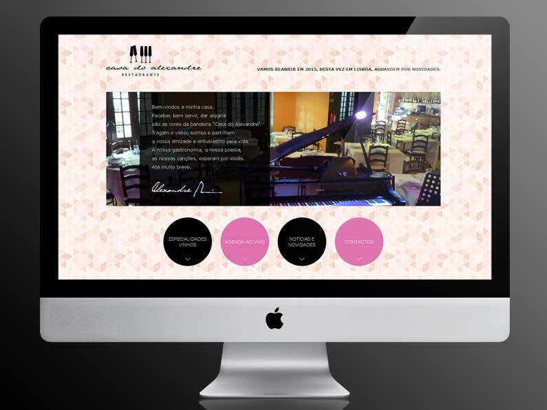 Website Casa do Alexandre